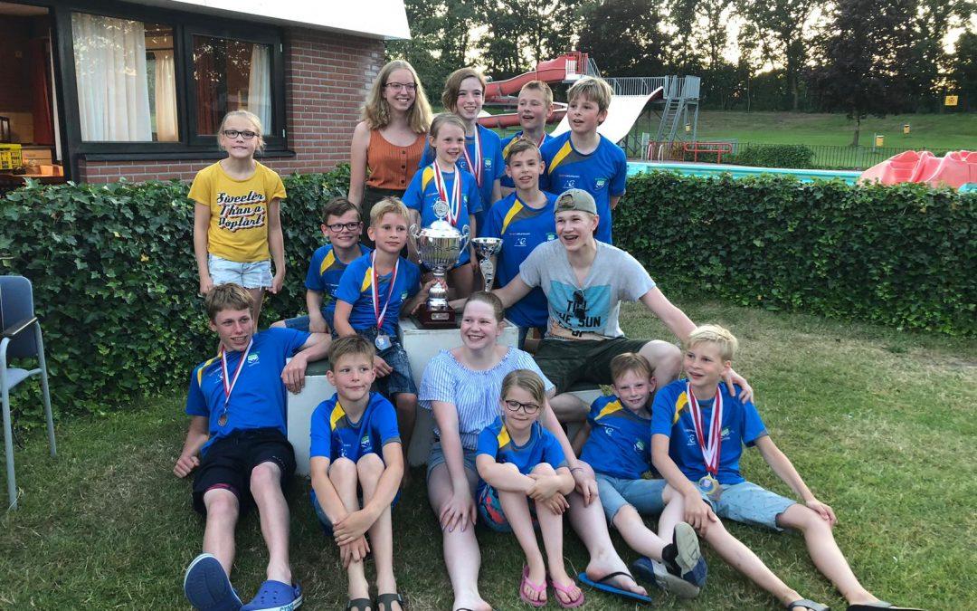 Batavia Swim pakt wisselbeker tijdens Midzomer Medaillewedstrijd 't Harde